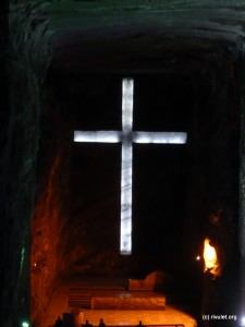 Catedral de Sal - The Cross in the main hall