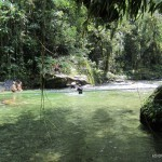 Well, why not take the chance for a refreshing swim? Yep, thats me in the black shirt :-)