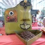 The roasting machine...