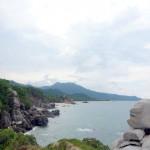 The shoreline beyond Castilletes.
