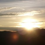 Sunrise at Laguna Quilotoa.