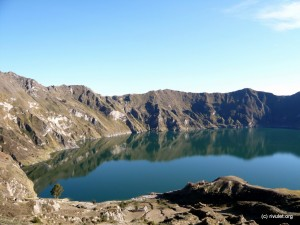 The crater lake.