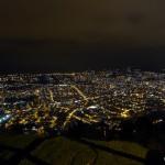 View of Quito at night from El Panecillo.