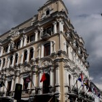 Big colonial building.