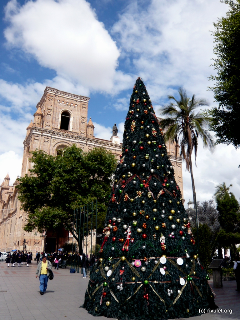Christmas tree in Cuenca.