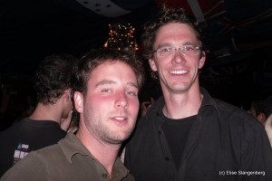 Wouter and me. In the disco :-)