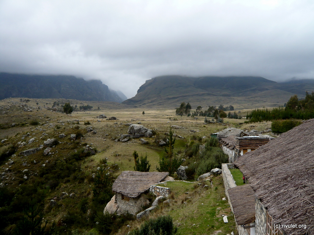 View from the lodge in Huaraz.