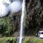 Waterfall on the road.