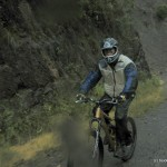 Biking down...
