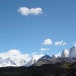 Cerro Torre and Fitz Roy, seen from El Chalten.