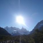 Cerro Torre in the sun.