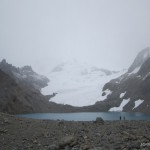 Laguna Los Tres. Cold and windy.
