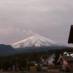 Volcano Villarrica seen from town.