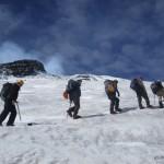 Hiking the glacier.
