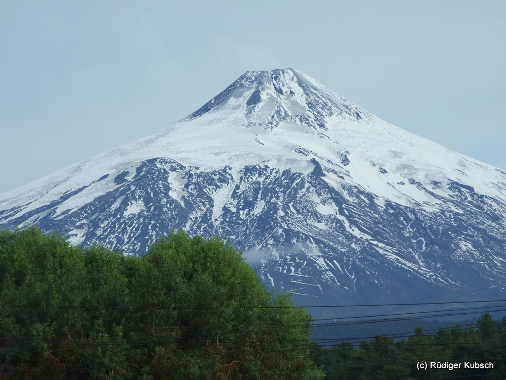 A close up of the volcano.