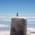 Kevin, after climbing a big salt rock.