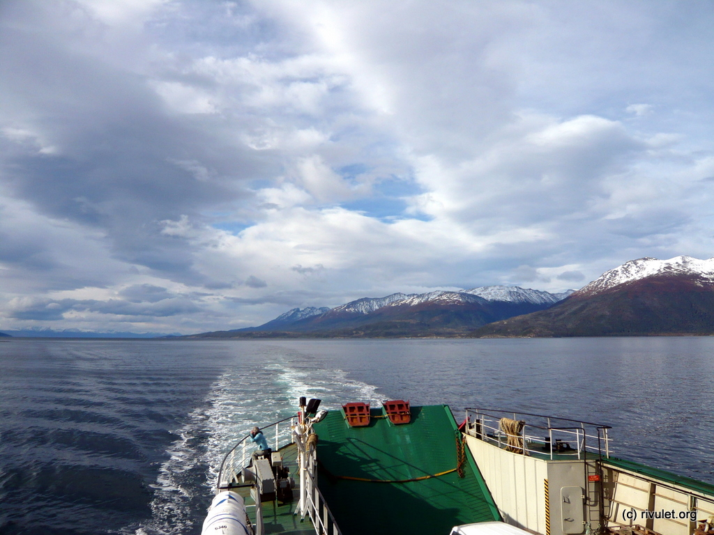 Navigating the Beagle Channel.