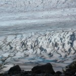 Rutted landscape of ice.