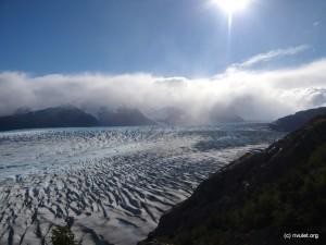 Sunshine over Glacier Grey.