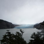 View of Glacier Grey from the bay.