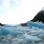 A lot of small icebergs.