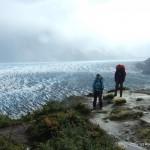 Hiking along Glacier Grey.