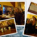 Birthday dinner at Refugio Paine Grande.