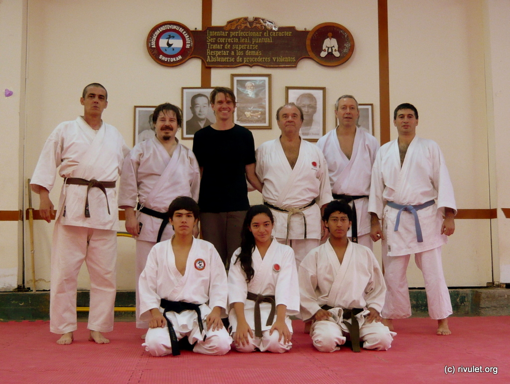 Group photo after the Saturday training.