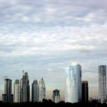 Skyline of Buenos Aires.