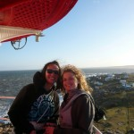 Pauline & Laure at the top of the lighthouse.