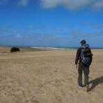 Walking to Cabo Polonio.