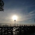 Sun over the pier.