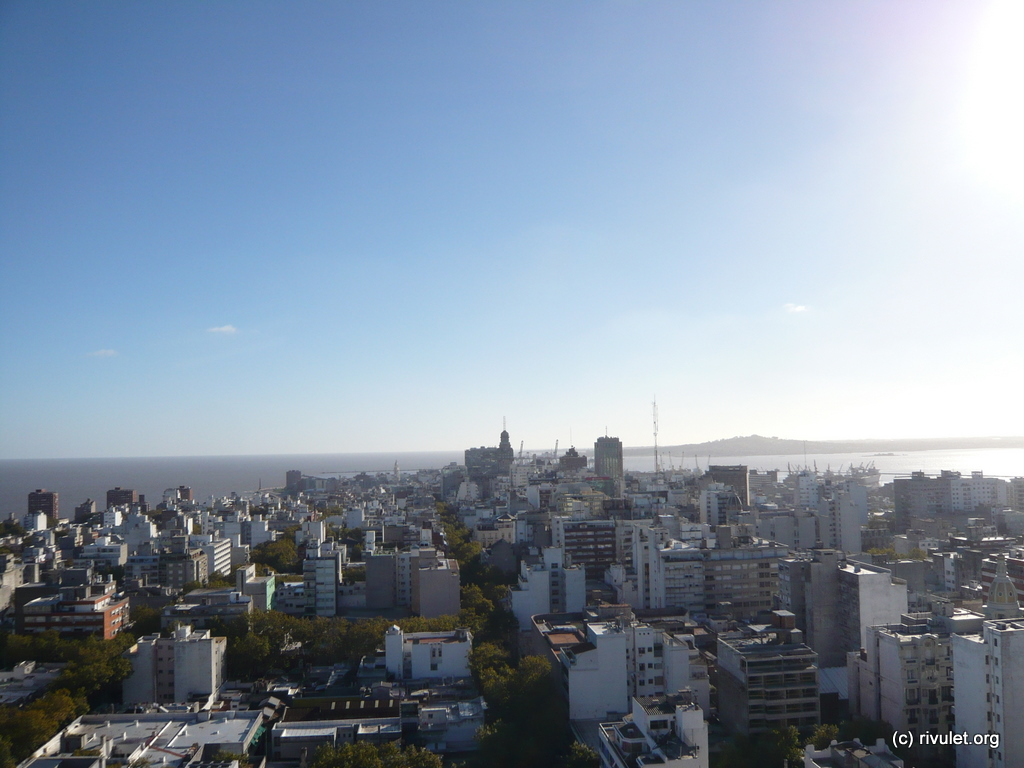 View of Montevideo from the top I.
