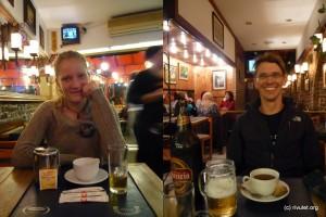 Berlin: Whiskey and tea; Darmstadt: Beer and tea :-)