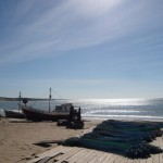Fishing boat in Punta del Diablo.