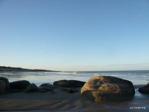 The beach in Punta del Diablo.