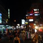 The famous Khao San road. Crazy.