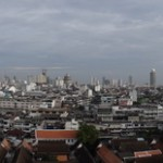 Panoramic view of Bangkok from the Golden Mount.