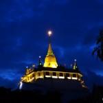 Golden Mount at night.