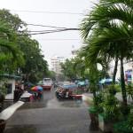 It's the rainy season.