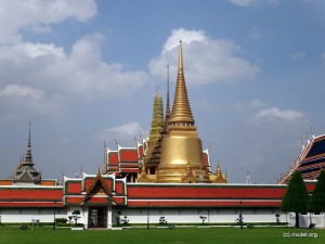 Temple of the Emerald (Jadeite) Buddha. Thailand's palladium.