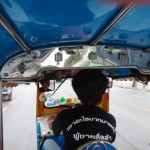 Driving TukTuk.