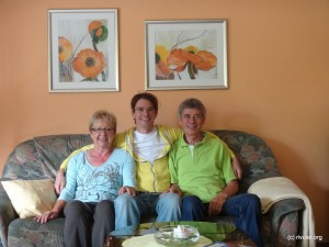 My parents and I. On my last day back home :-(