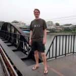 Me on the bridge over the River Kwai.