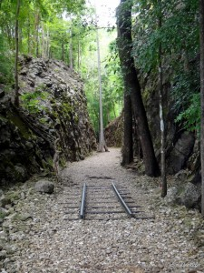 Hellfire pass. Cut through rock by hand.