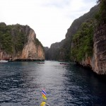 Arriving at the lagoon of Phi Phi Leh.