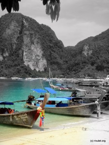 Arriving at Ko Phi Phi.