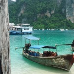 Ko Phi Phi: A lot of long-tail boats.