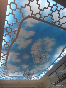 """Ceiling of the """"Sweet & Coffee""""."""