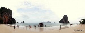 Panorama of Phranang Beach.